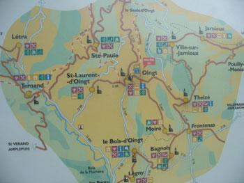 Map pf Oingt